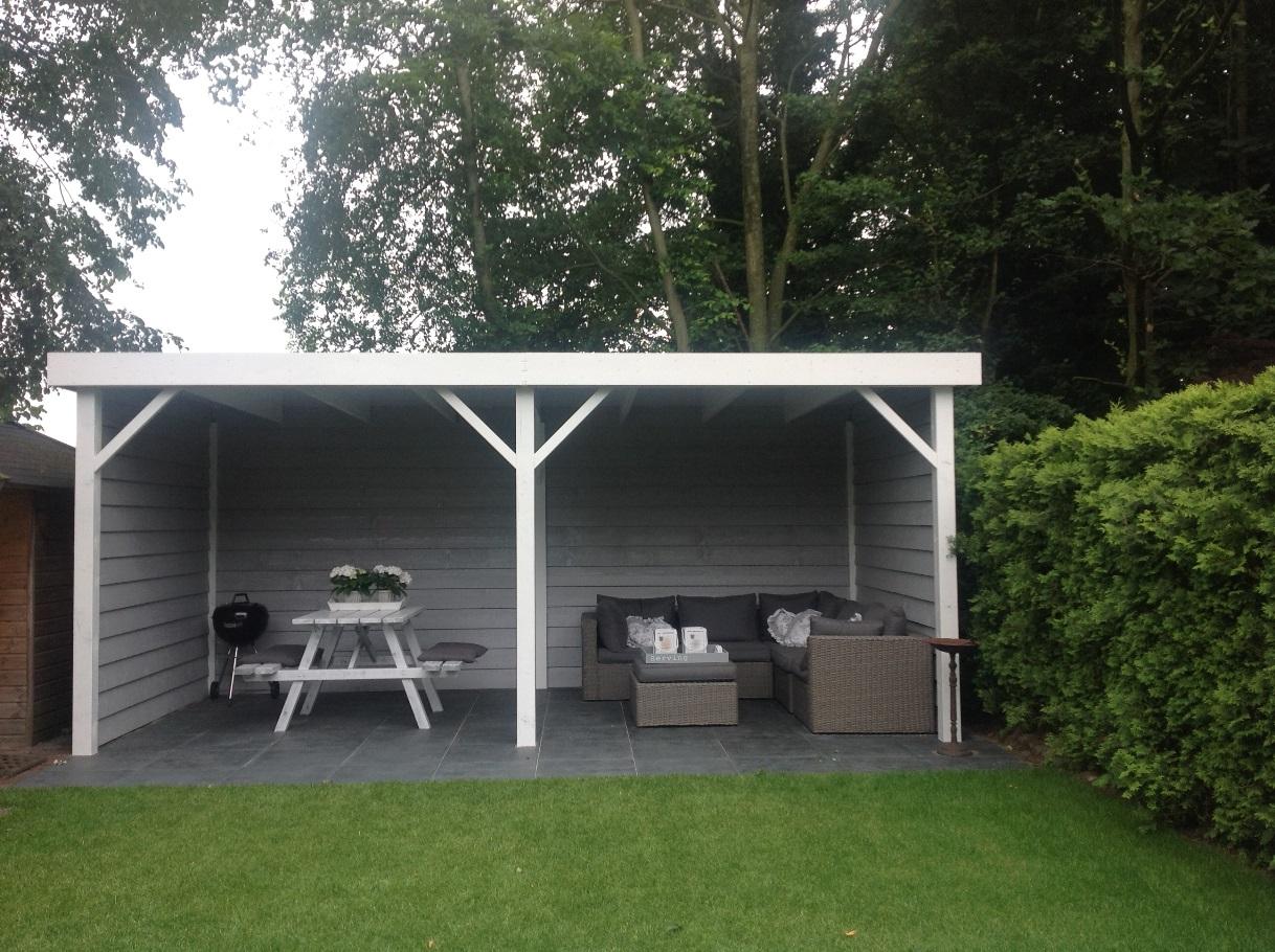 Aanleg tuin Velden met overkapping (1)