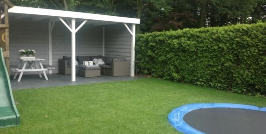 Aanleg tuin Velden met overkapping (2)
